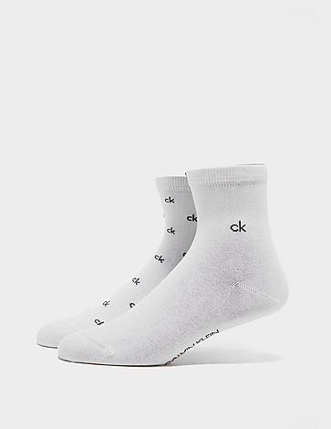 Calvin Klein 2 Pack Logo Print Socks