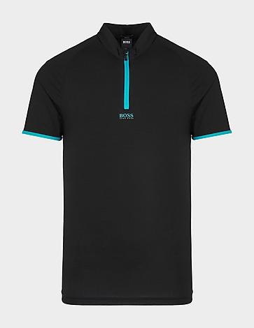 BOSS Pariq 1 Contrast Zip Polo Shirt