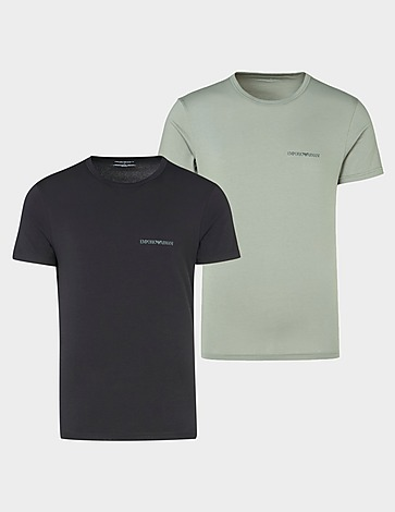 Emporio Armani Loungewear 2 Pack Core Logo T-Shirts