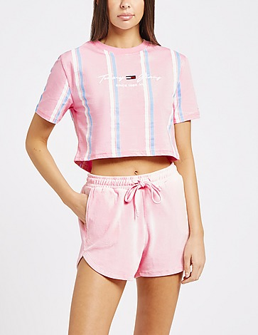 Tommy Jeans Stripe Cropped T-Shirt