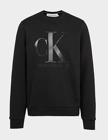 Calvin Klein Jeans Leather Monogram Logo Sweatshirt