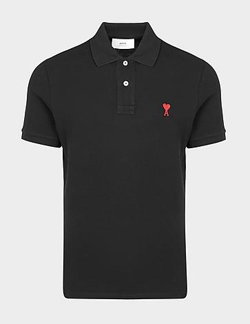 AMI Paris Red Heart Polo Shirt