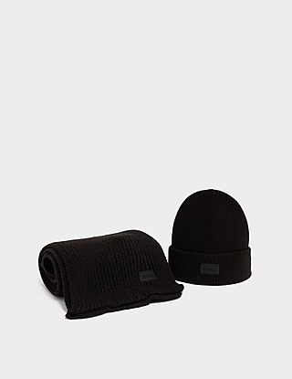Barbour International Track Beanie and Scarf Set