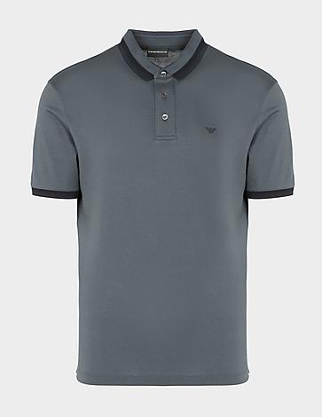 Emporio Armani Crochet Collar Polo Shirt