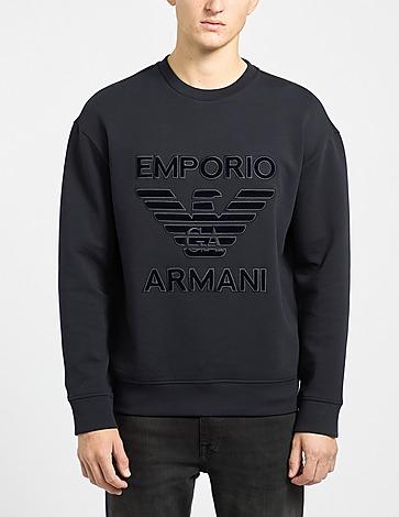 Emporio Armani Flock Eagle Crew Sweatshirt