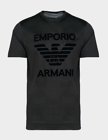 Emporio Armani Flock Eagle T-Shirt