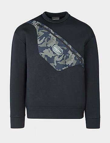 Emporio Armani Camo Bag Crew Sweatshirt