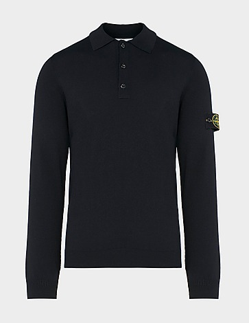 Stone Island Knitted Badge Polo Shirt