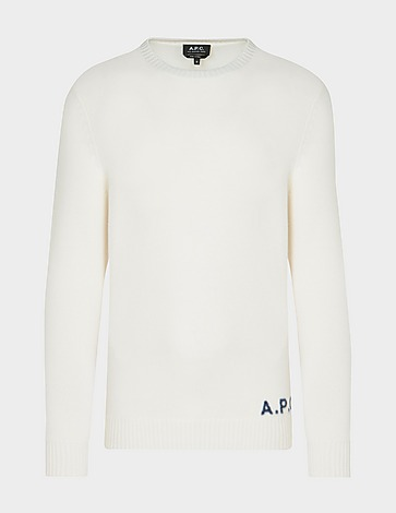 A.P.C Logo Wool Knitted Jumper