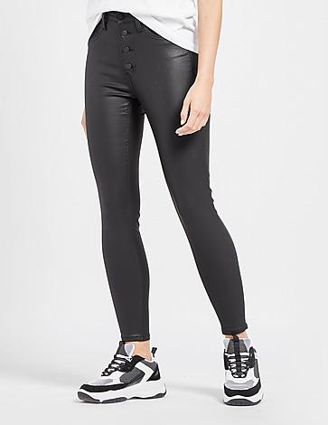 Calvin Klein Jeans Leather Look Denim Jeans