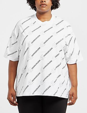 Calvin Klein Jeans Curve All Over Print Logo T-Shirt