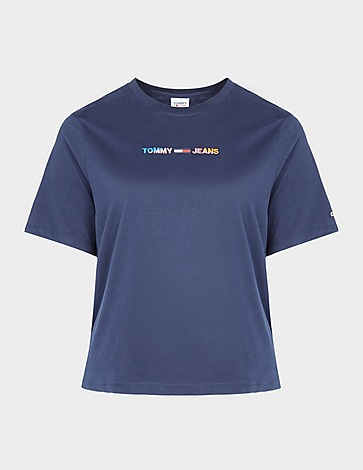 Tommy Jeans Curve Linear Crop T-Shirt