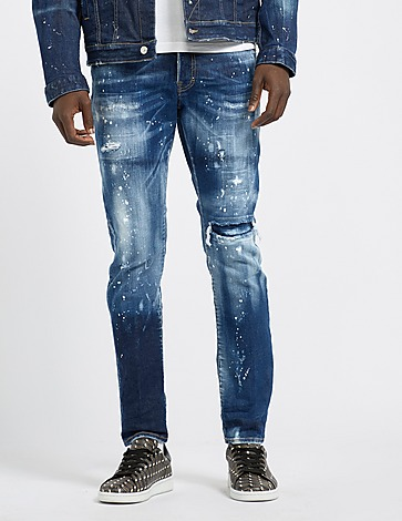 Dsquared2 Skater Distressed Paint Jeans