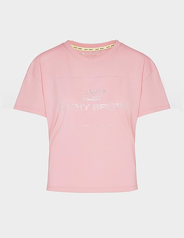 DKNY Rhinestone Crop T-Shirt