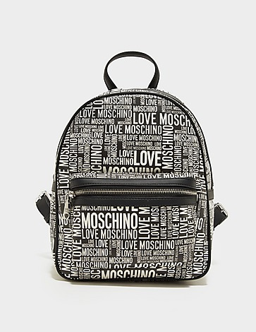 Love Moschino All Over Print Zip Pocket Backpack