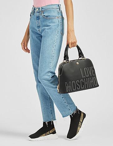 Love Moschino Embossed Logo Satchel Bag