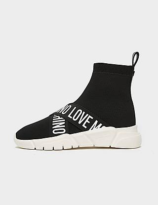 Love Moschino Tape Logo Strap Sock Runners