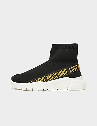 Love Moschino Tape Glitter Sock Runners