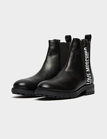 Love Moschino Logo Zip Chelsea Boot