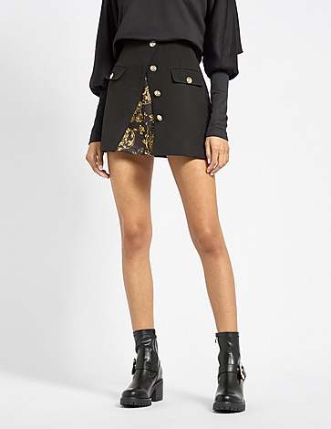 Versace Jeans Couture Baroque Button Skirt