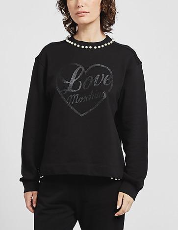 Love Moschino Pearl Glitter Sweatshirt