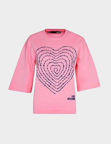 Love Moschino Swirl Logo T-Shirt