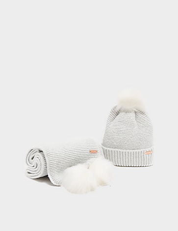 Barbour International Knitted Beanie and Scarf Set