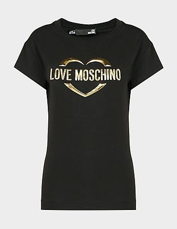 Love Moschino Gold Heart Logo T-Shirt