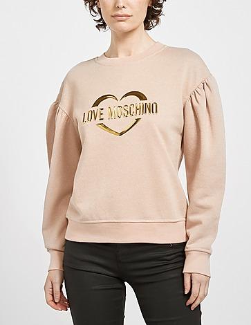 Love Moschino Gold Heart Logo Sweatshirt