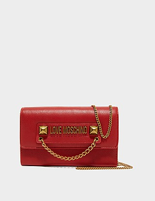 Love Moschino Stud Chain Cross Body Bag