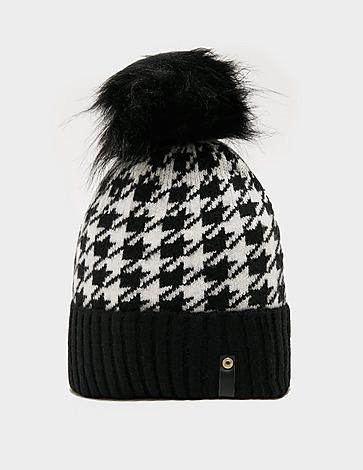 Holland Cooper Houndstooth Pom Hat