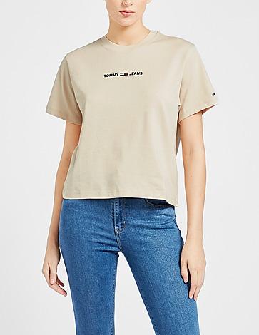 Tommy Jeans Linear Logo Crop T-Shirt