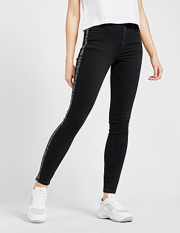 Calvin Klein Jeans High Rise Tape Skinny Jeans