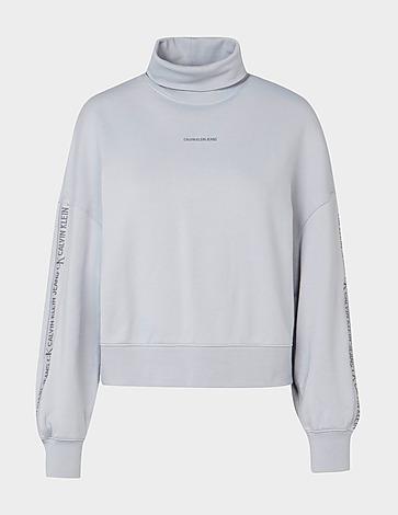 Calvin Klein Jeans Logo Trim Roll Neck Sweatshirt