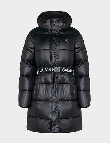 Calvin Klein Jeans Logo Belt Long Puffer Jacket
