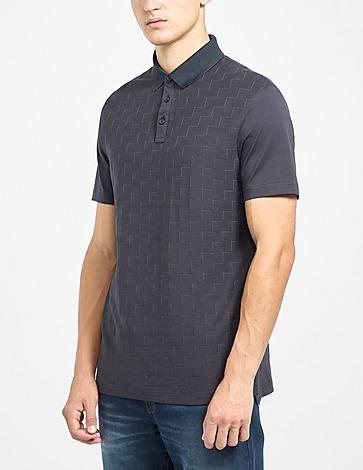 Armani Exchange Zig Zag Cotton Polo Shirt