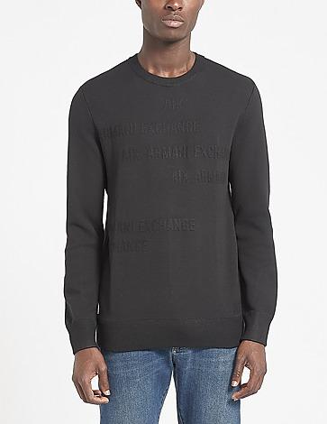 Armani Exchange Jacquard Logo Sweatshirt